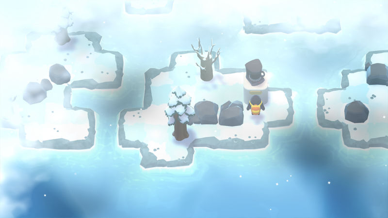 A Monster's Expedition arctic biome