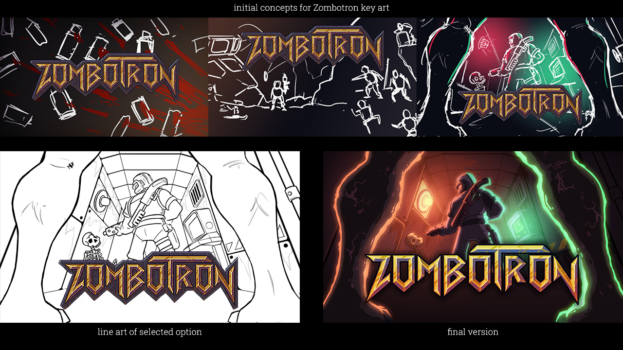 Key art process for Zombotron